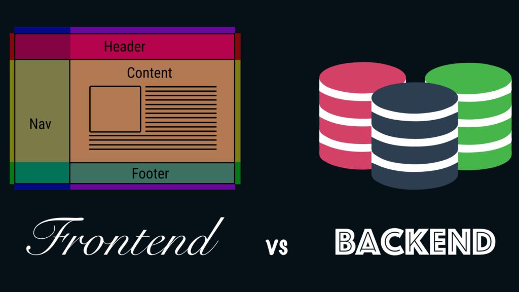 sự khác biệt giữa back end và front end là gì?